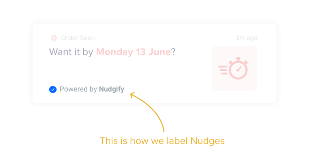 nudge label illustration