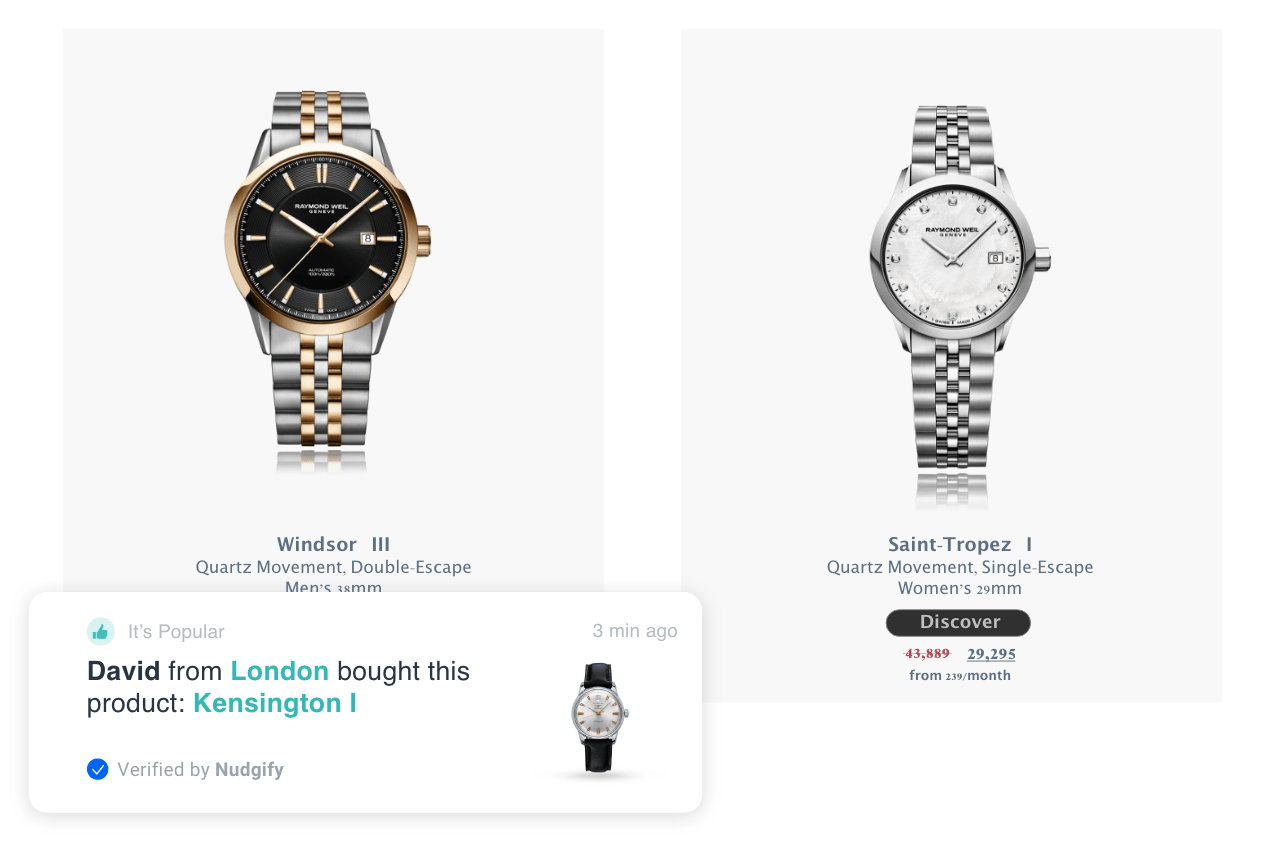 social proof purchases
