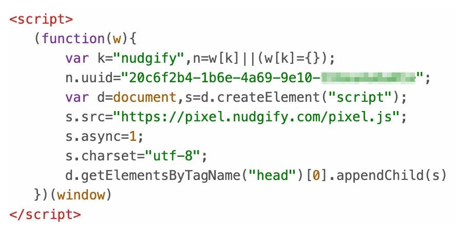 nudgify pixel