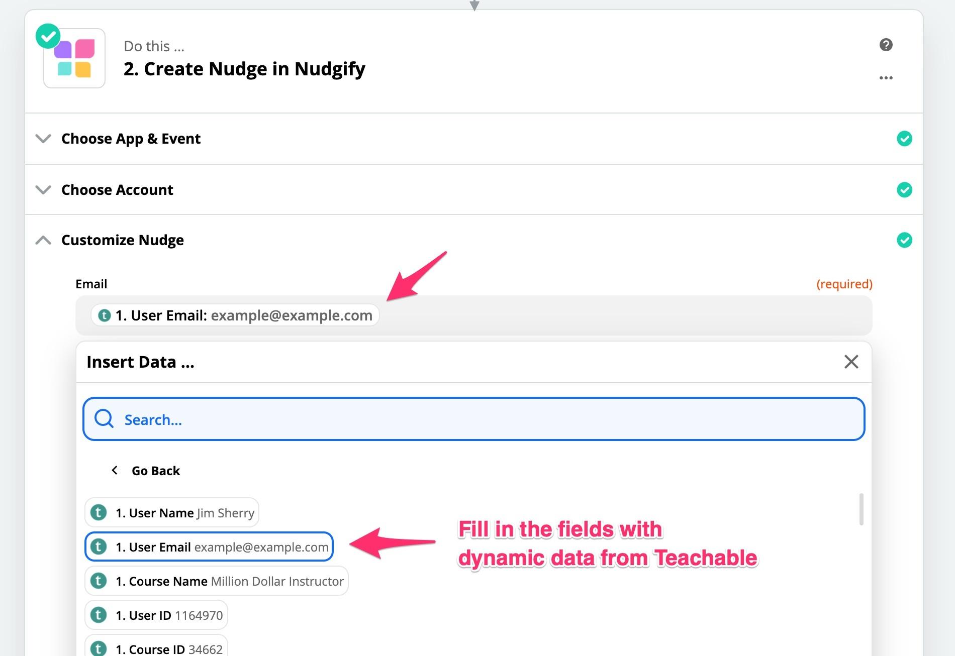 customize social proof nudge