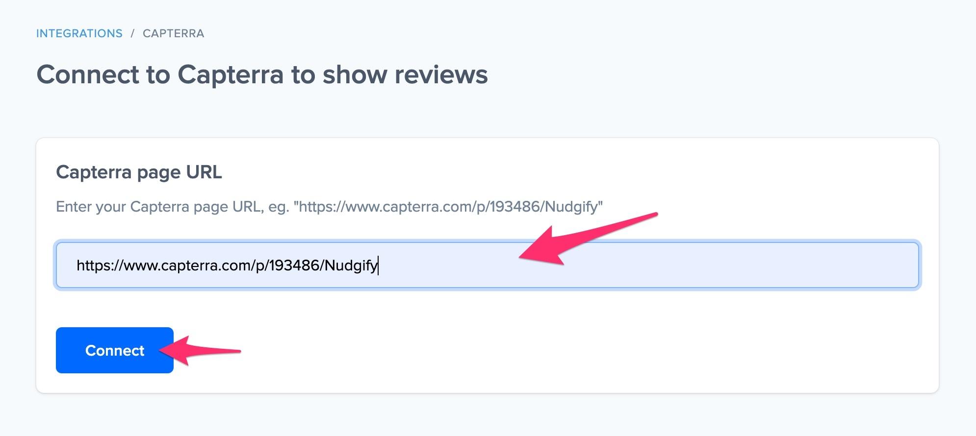 Capterra show reviews