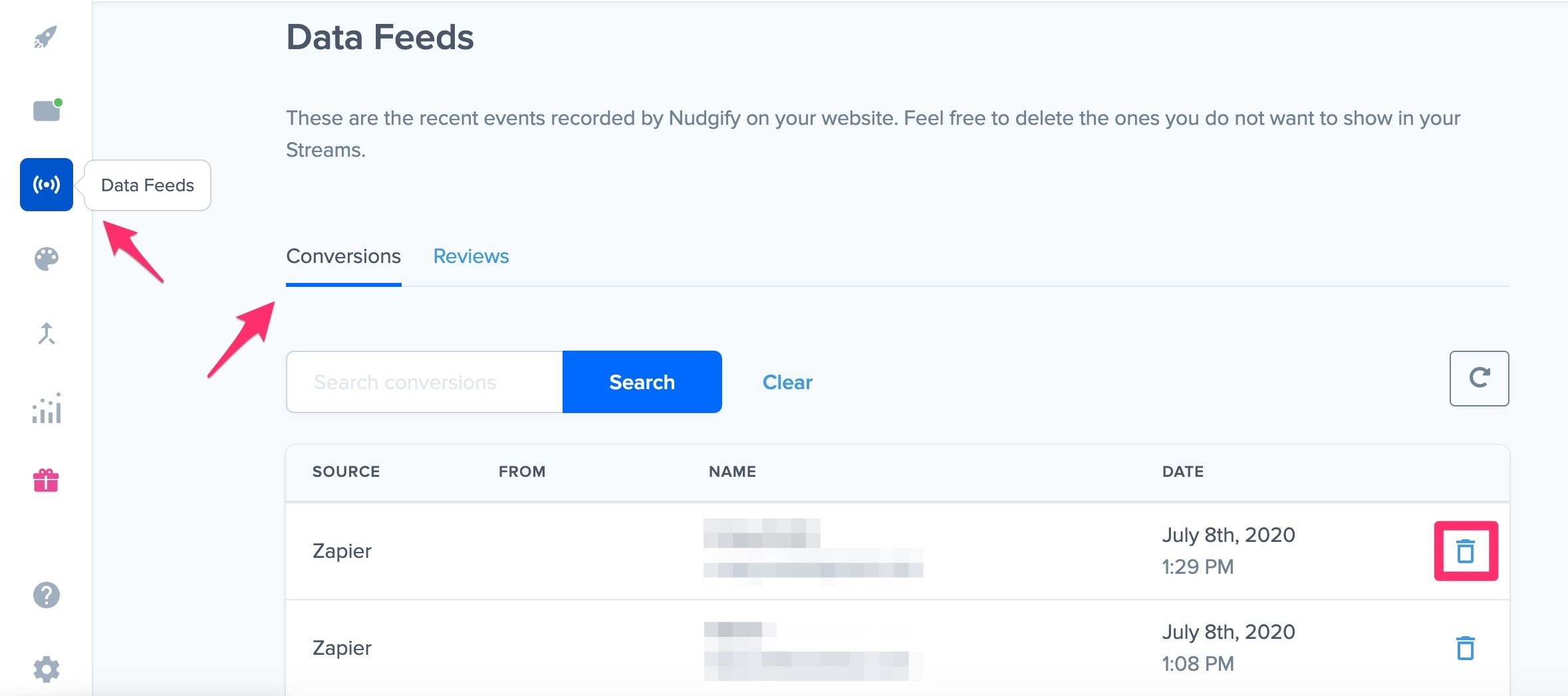 choose which social proof: conversions