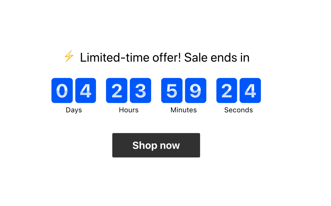 shopify conversion rate countdown timer