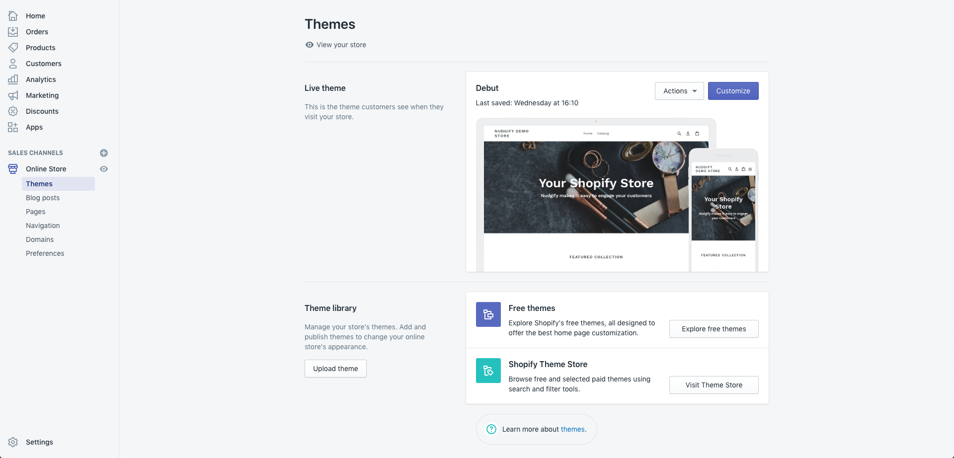 eCommerce platform shopify dashboard