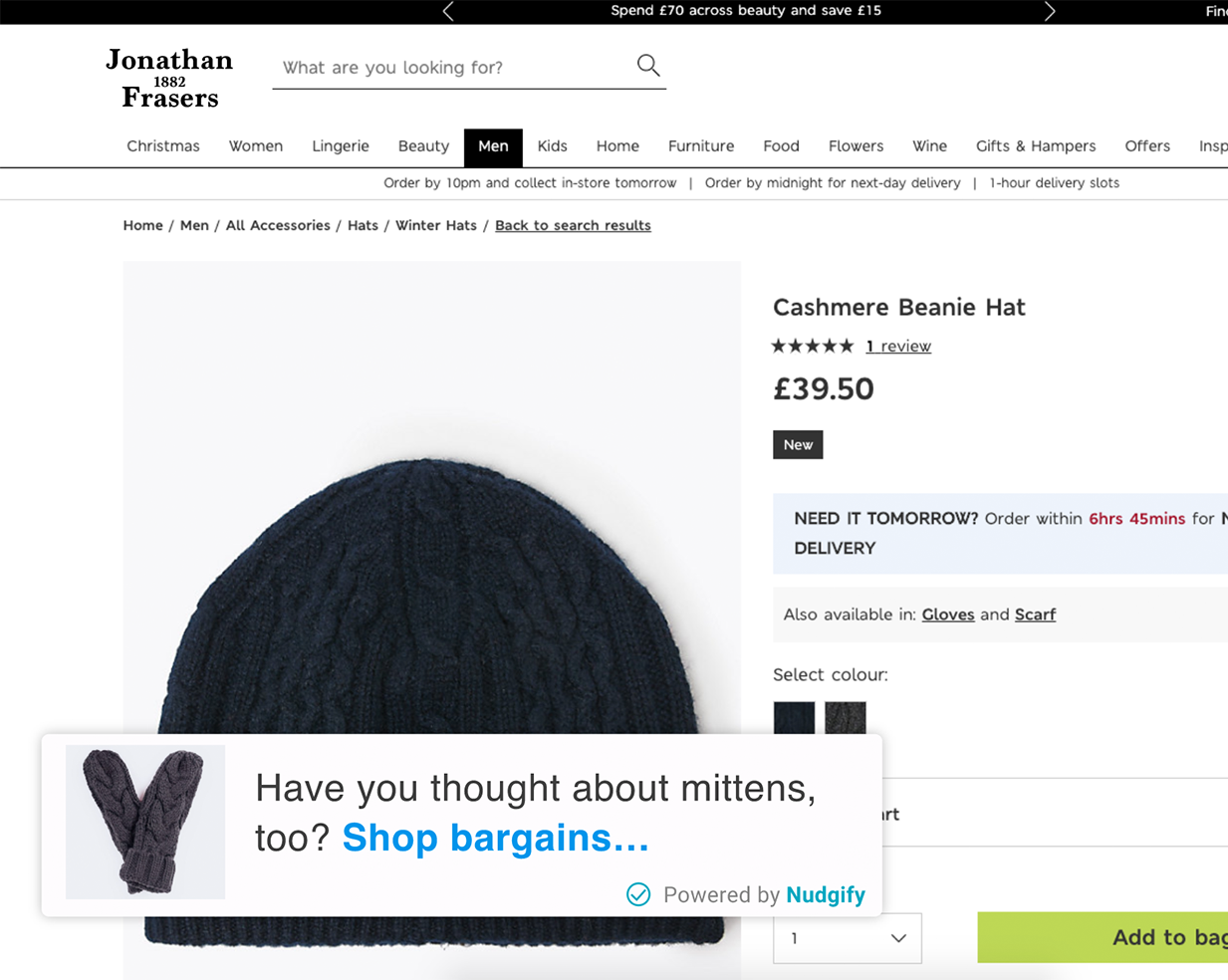 fashion ecommerce cross-sell