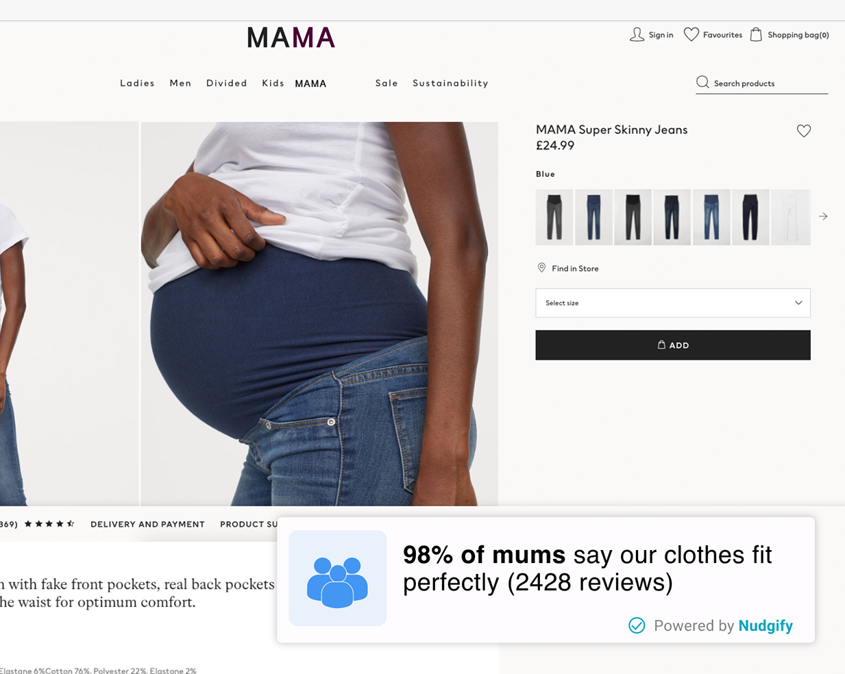 fashion ecommerce social proof