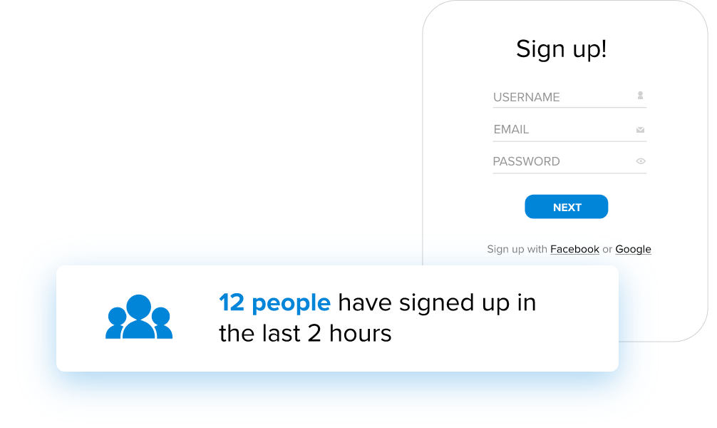 increase sign ups nudgify