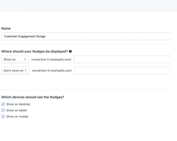 nudgify features page rules