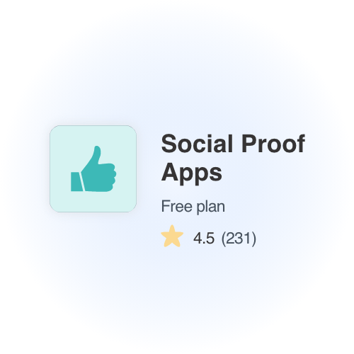 social proof app shopify store