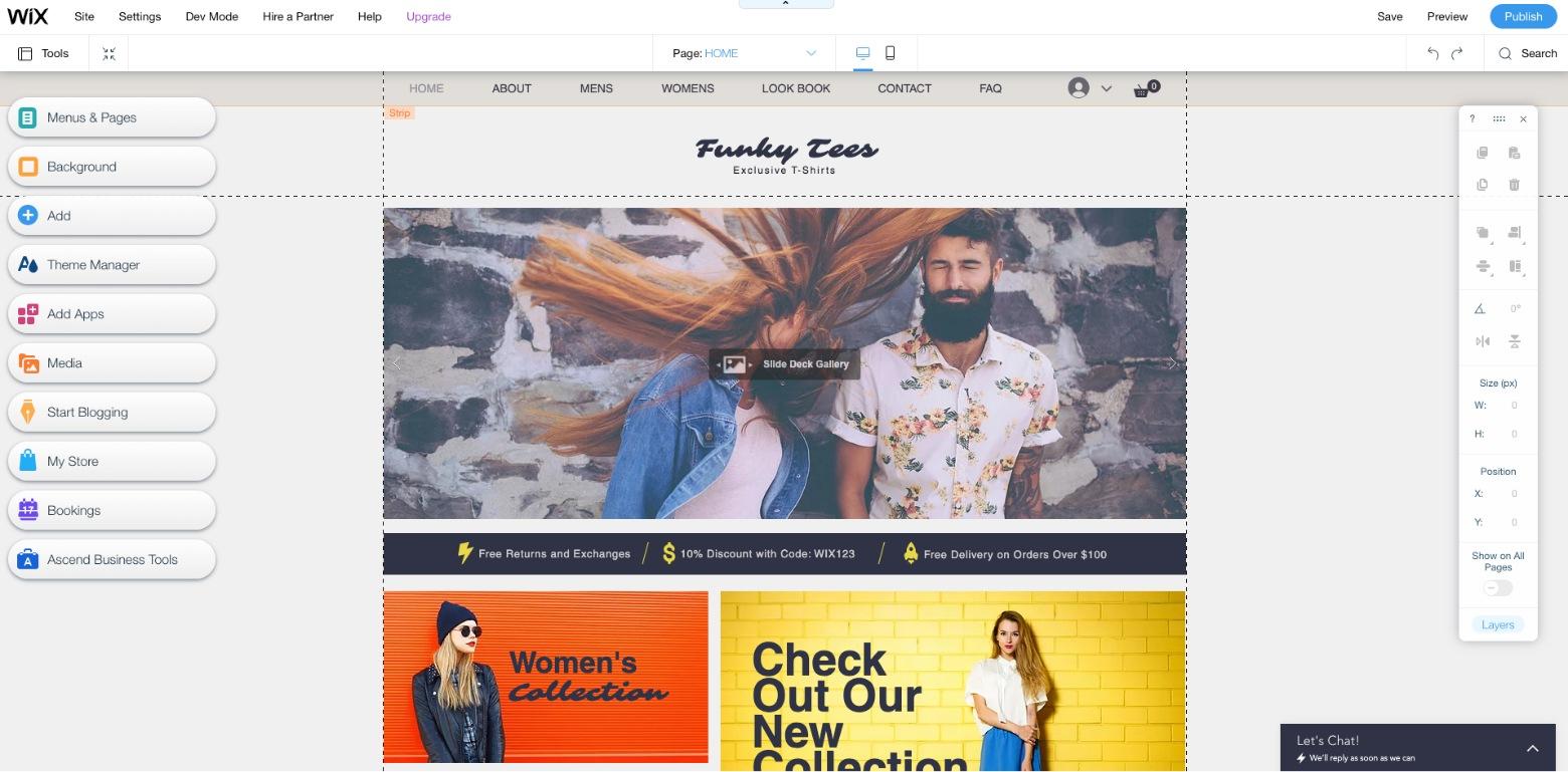 wix builder ecommerce platform