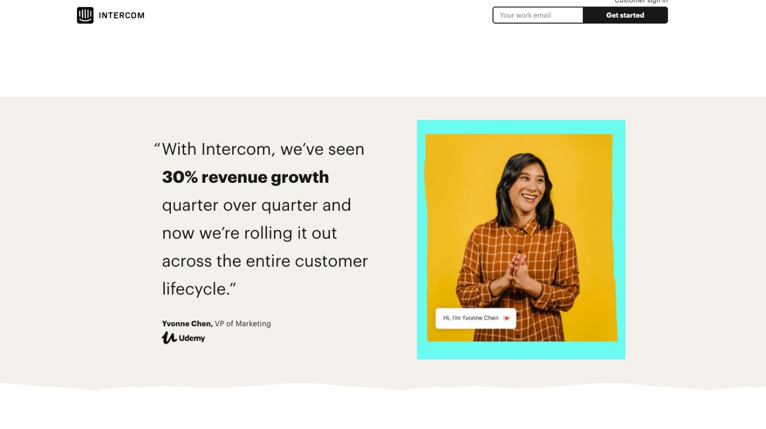 social proof marketing intercom