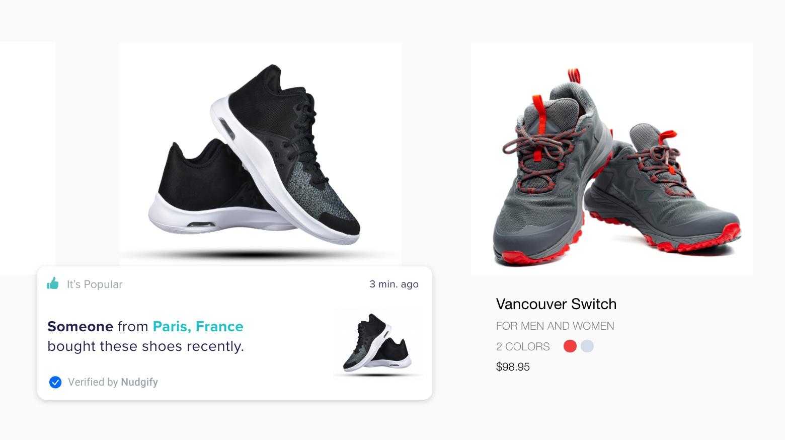 sales pop notifications