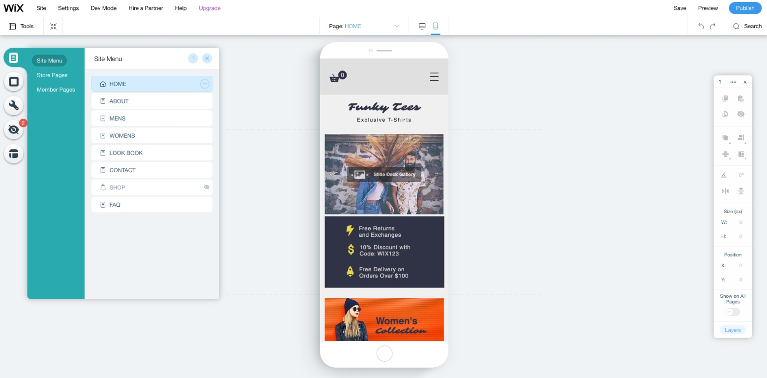 page builder ecommerce platform wix