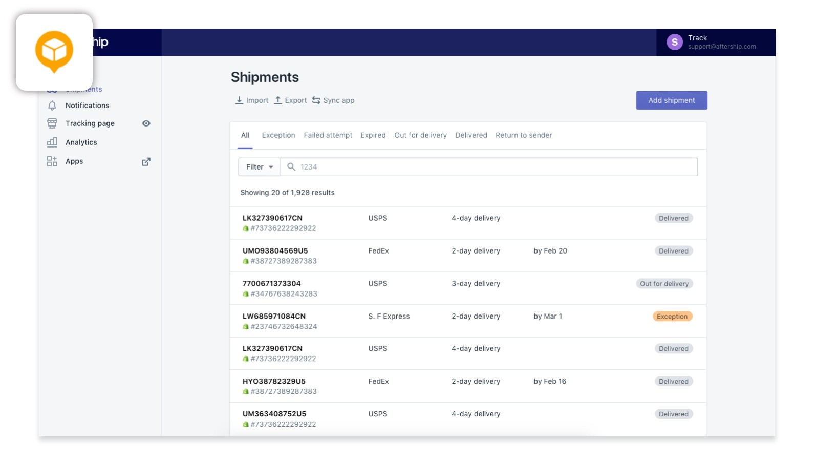 post shipping engagement plugin