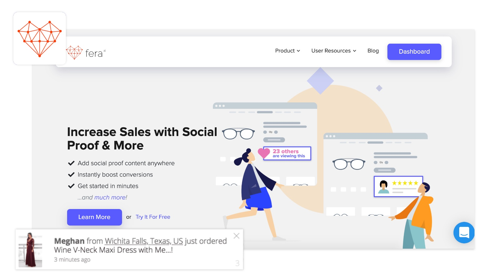 shopify sales pop fera