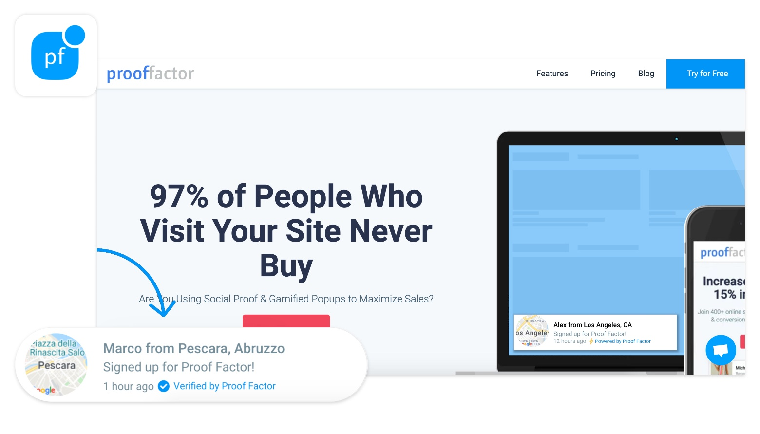 sales pop shopify proof factor