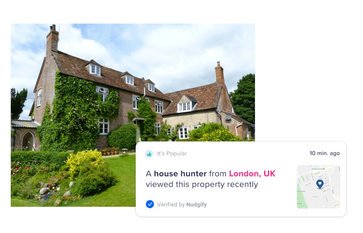 real estate marketing social proof nudge