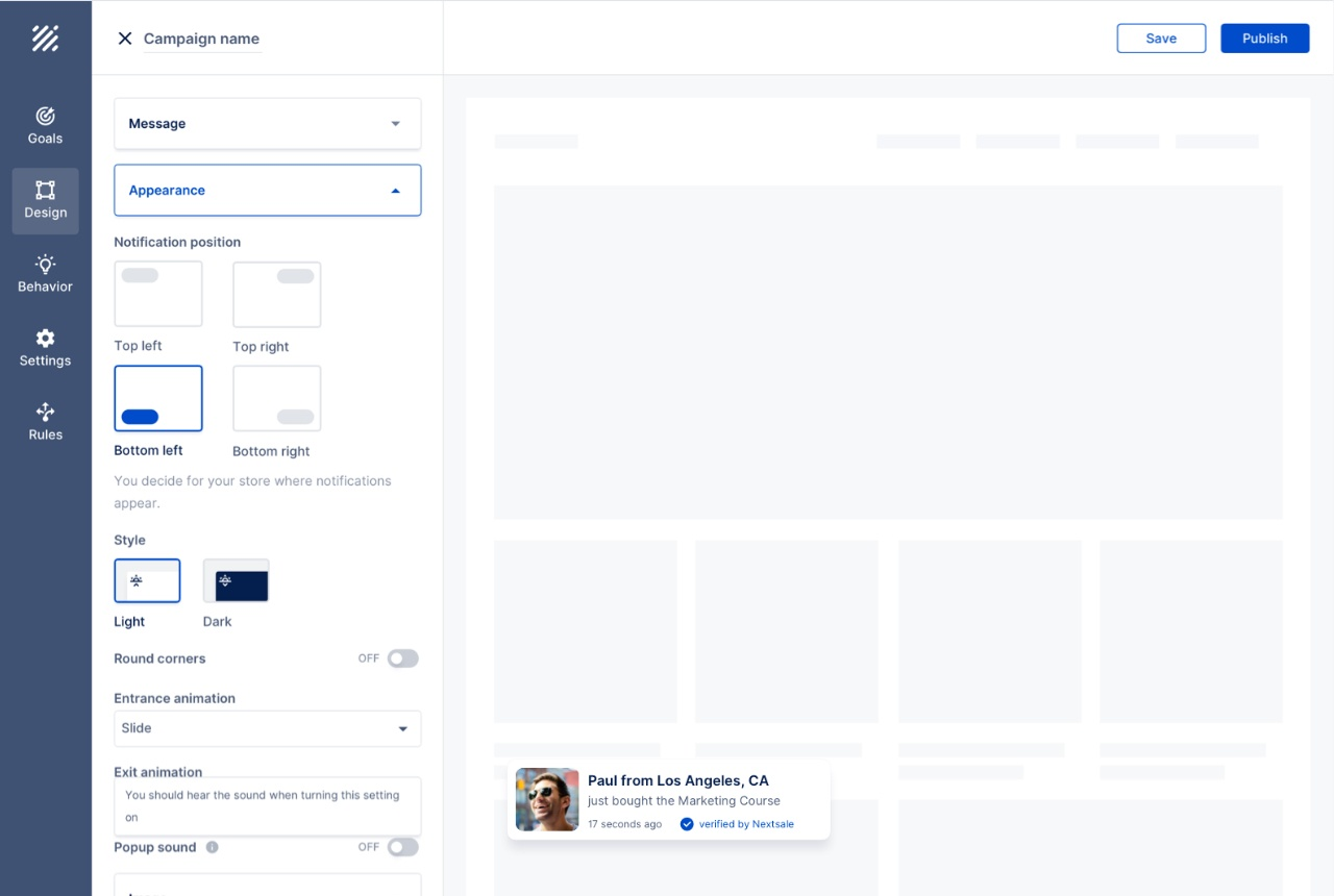 wordpress social proof plugin nextsale