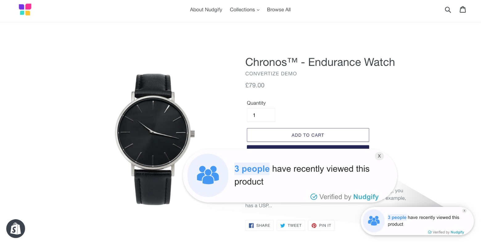 shopify sales funnel social proof app