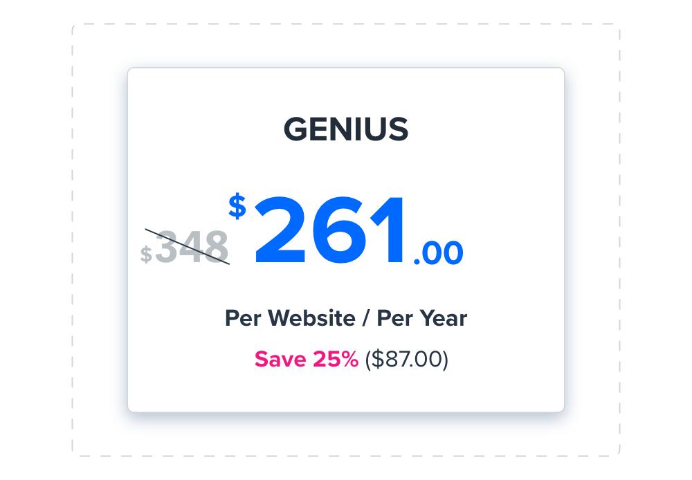 genius annual voucher
