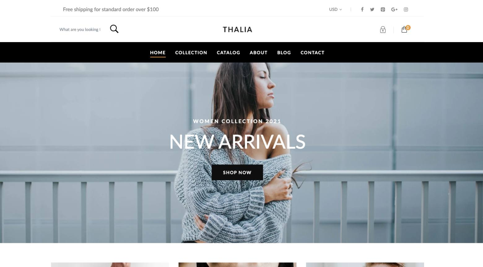 thalia shopify theme screenshot